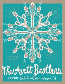 Avett Brothers - Smith Opera House poster