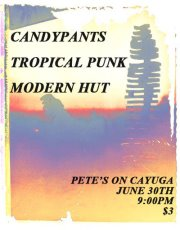 Tropical Punk at Pete's on Cayuga poster - June 30, 2012