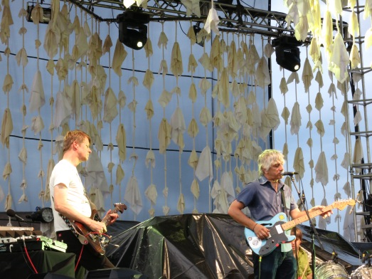 Nels Cline and Lee Ranaldo - July 28, 2012 - Brewery Ommegang - Cooperstown, NY - Photo by Peter Cauvel