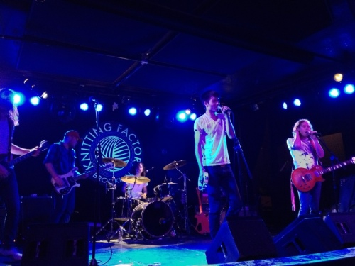 Free Energy at AAM CMJ Party -- Knitting Factory, Brooklyn, NY -- October 20, 2012 -- Photo by Peter Cauvel