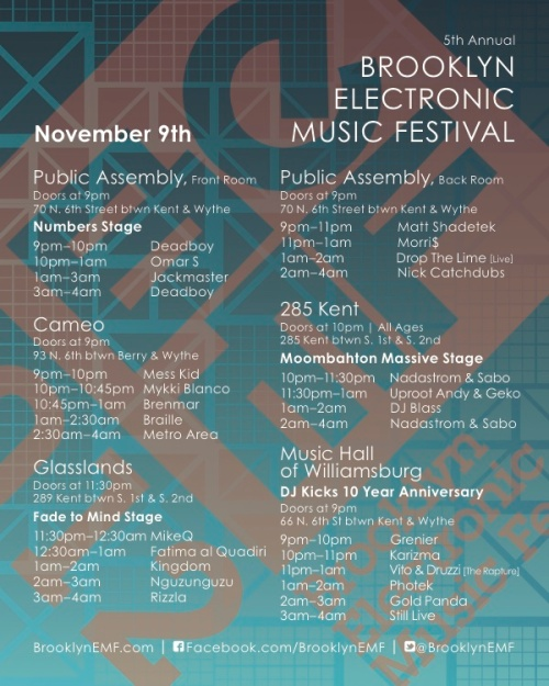Brooklyn Electronic Music Festival 2012 - Saturday