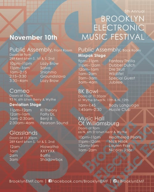 Brooklyn Electronic Music Festival 2012 - Friday