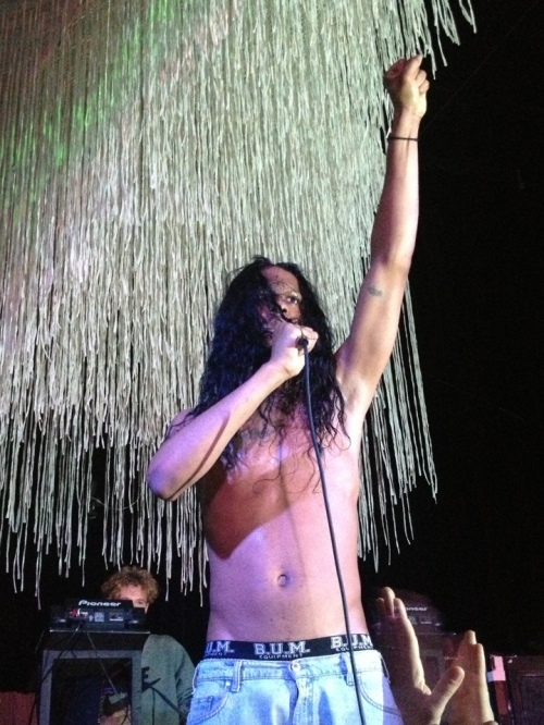 Mykki Blanco performs at Cameo Gallery - Brooklyn Electronic Music Festival - November 9, 2012 - Photo by Peter Cauvel